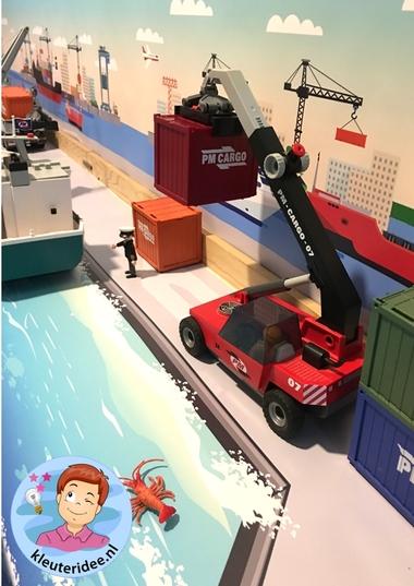 Thematafel de haven 4 , kleuteridee, kindergarten port theme with boats