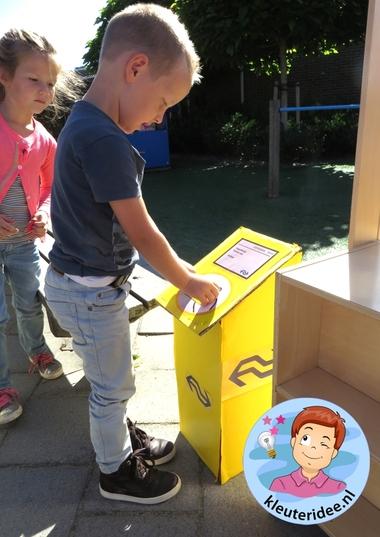 Inchecken met OV-chpkaart, rollenspel trein met kleuters, kleuteridee.nl, kijk voor beschrijvingen op de website 6