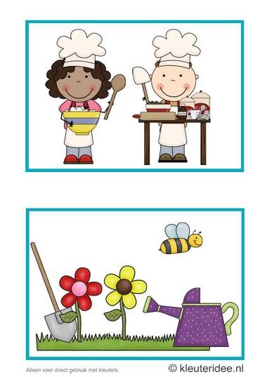 Dagritmekaarten voor kleuters 10, kleuteridee.nl , bakken koken en schooltuintjes , daily schedule cards for preschool 10, free printable.
