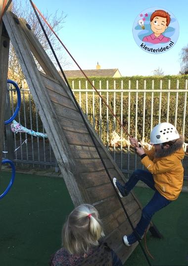 berg beklimmen , thema bergen, Kindergarten mountaintheme, kleuteridee 1
