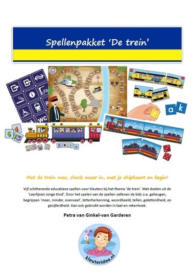 1. Spellenpakket trein., kleuteridee.nl