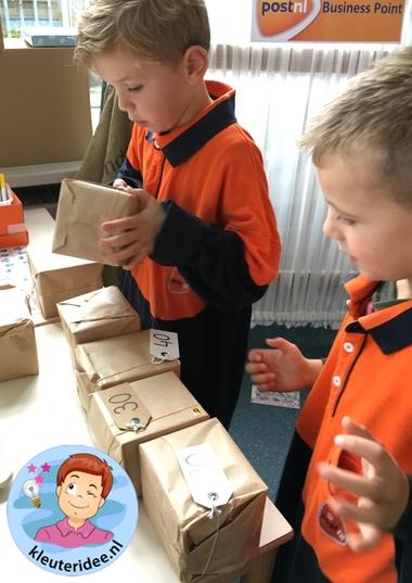Postkantoor, rollenspel voor kleuters, kleuteridee