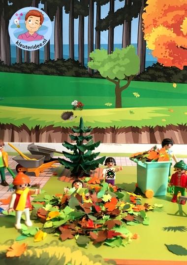 Herfstmat voor de speeltafel, kleuteridee thema herfst 3