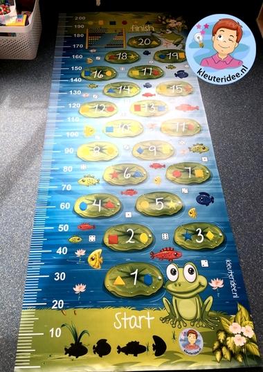 Speelkleed kikkermat voor rekenhoek, kleuteridee
