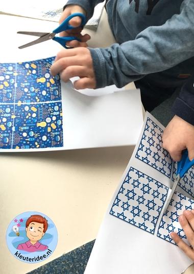 Talliet knutselen met kinderen, kleuteridee, Kindergarten Isael talid craft 4.