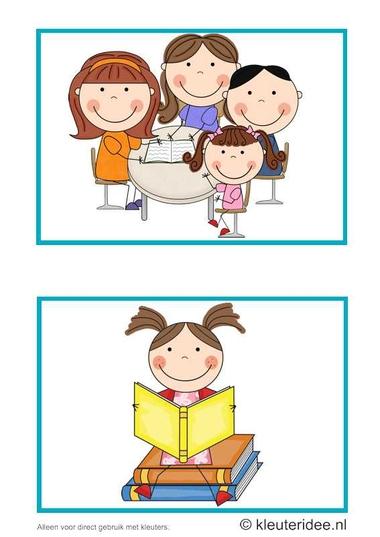 Dagritmekaarten voor kleuters 11, kleuteridee.nl , oudermorgen en lezen , daily schedule cards for preschool 11, free printable.
