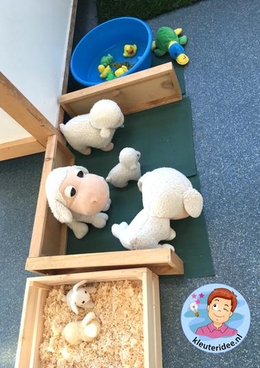 themahoek lente voor kleuters 7, Spring theme center kindergarten, kleuteridee