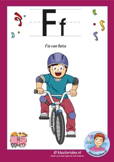 Pakket over de letter f blad 2, letterkaart, kleuteridee, letters aanbieden aan kleuters,free printable.