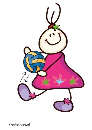 Bewegingskaart bal voor kleuters, bal omhoog schieten en vangen, kleuteridee.nl, free printable moving cards for preschool.