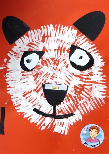Panda maken met kleuters 2, thema China , kijk voor de beschrijving op kleuteridee.nl