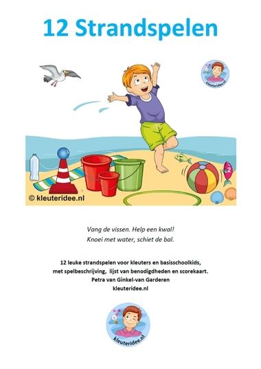 Strandspelen voor kleuters en kinderen, kleuteridee.nl