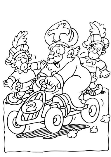 Kleurplaat Sinterklaas 4, kleuteridee