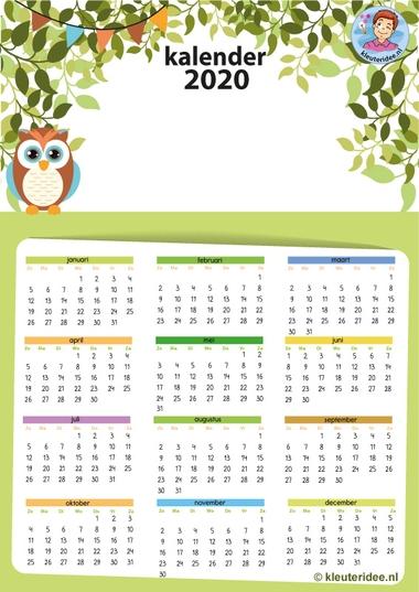 kalender 2020 A3 kleuteridee