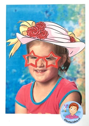 Maak een bril voor jezelf, kleuteridee, thema het oog, Kindergarten eye theme 4.