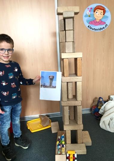 watertoren bouwen in de bouwhoek 2, thema water, kleuteridee