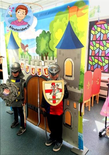 Kasteel, thema ridders, jonkvrouwen en kastelen, kleuteridee 2
