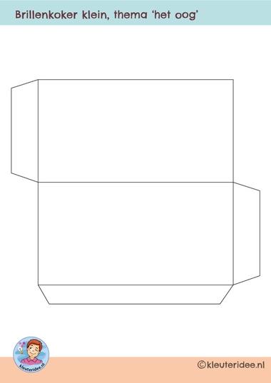 brillenmapje klein, kleuteridee, free printable
