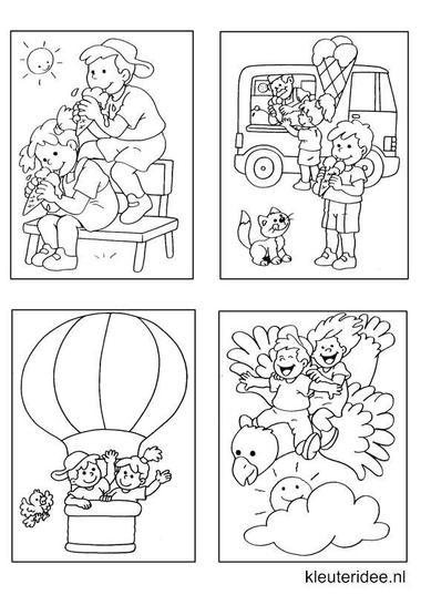 Kleine kleurplaatjes 13, kleuteridee.nl , deze kleurplaatjes maken kleuters echt af ;), free printable.