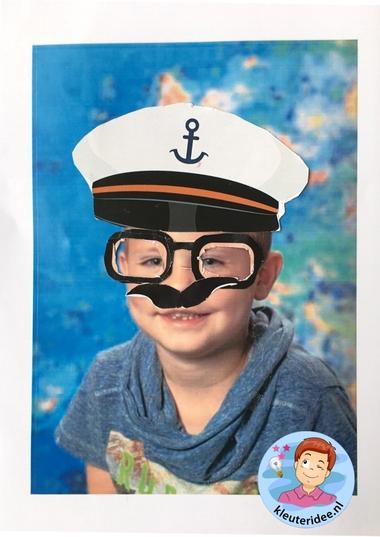 Maak een bril voor jezelf, kleuteridee, thema het oog, Kindergarten eye theme 3.