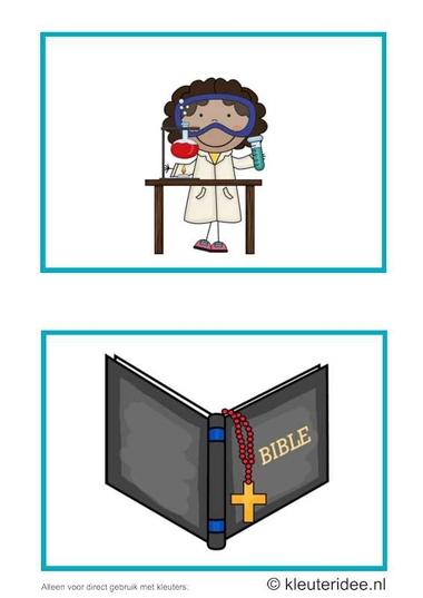 Dagritmekaarten voor kleuters 19, kleuteridee.nl , techniek en Bijbelles , daily schedule cards for preschool 19, free printable.