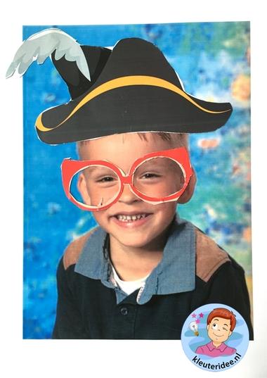 Maak een bril voor jezelf, kleuteridee, thema het oog, Kindergarten eye theme. 1.