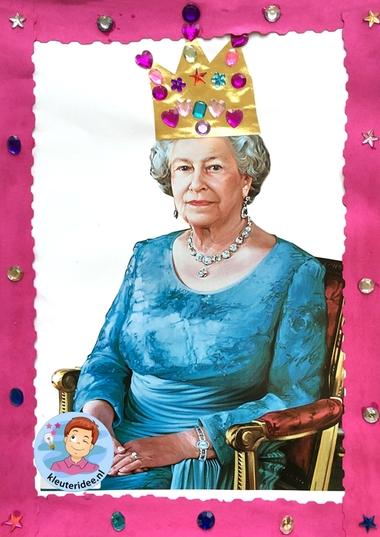 Koningin Elizabeth knutselen met kleuters 2, thema Engeland , Queen Elizabeth craft kindergarten, kleuteridee