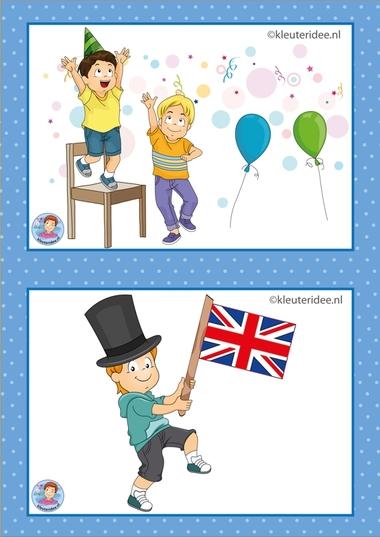 5 Verjaardag en Engels.32 dagritmekaarten voor kleuters, juf Petra kleuteridee / Preschool schedule cards