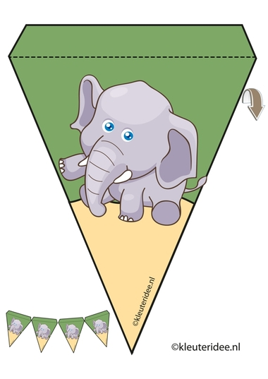 olifant slinger, thema dierentuin, juf Petra van kleuteridee, elephant guirlande, Preschool zoo theme, free printable.olifant slinger, thema dierentuin, juf Petra van kleuteridee, elephant guirlande, Preschool zoo theme, free printable.