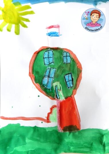 Bolwoning. Extreme gebouwen ontwerpen met kleuters, thema 'wij bouwen een huis'kleuteridee.