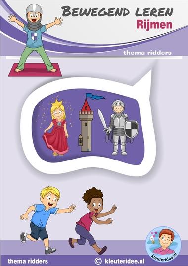 Rijmrun, Bewegend leren, rijmen, kleuteridee, thema ridders