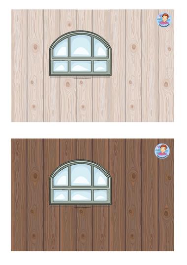Knipvel 2 voor de houten stal