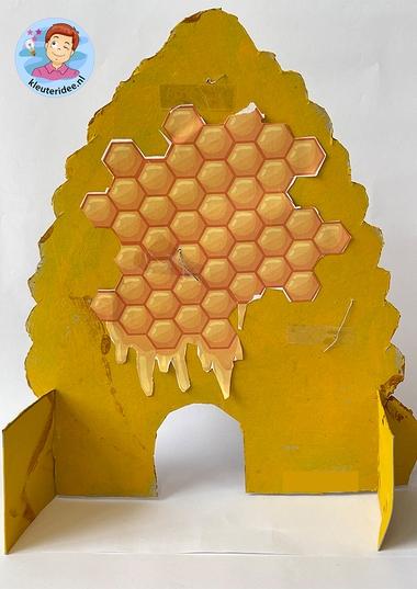 bijenkorf zwart wit, thema insecten voor kleuters, kleuteridee 2