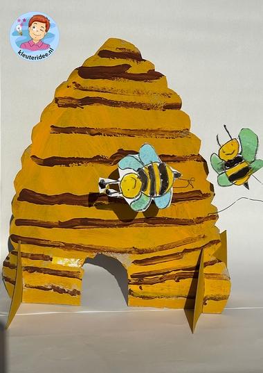 bijenkorf thema insecten voor kleuters, kleuteridee 3