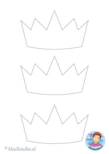 kroon moederdag, kleuteridee