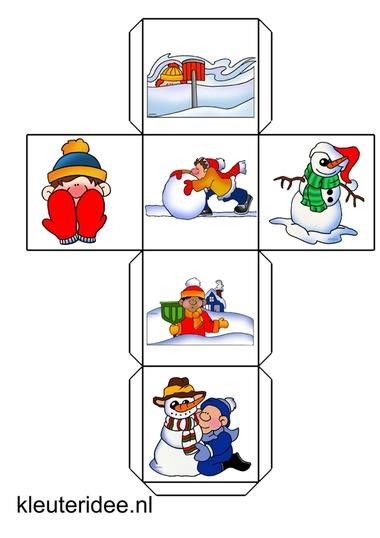 verteldobbelsteen winter, kleuteridee.nl, free printable.