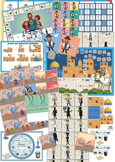 Spellenpakket Israël, Jewish games for kids, kleuteridee