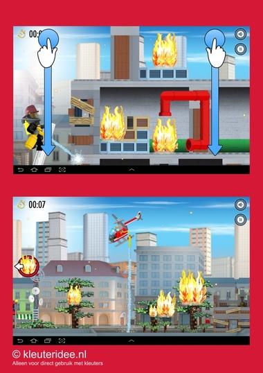 Brandweerapp lego city voor kleuters 2, kleuteridee
