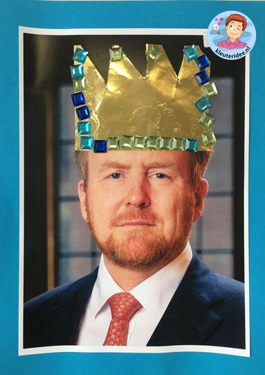 kroon voor de koning en koningin, thema Nederland, kleuteridee