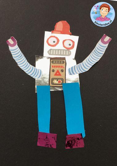 Robot knippen en plakken, knutselen kleuteridee 1