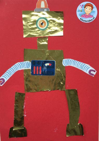Robot knippen en plakken, knutselen kleuteridee