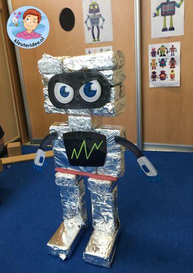 Robot bouwen in de bouwhoek, kleuteridee
