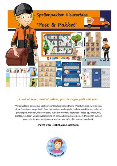 Spellenpakket 'Post & Pakket', kleuteridee