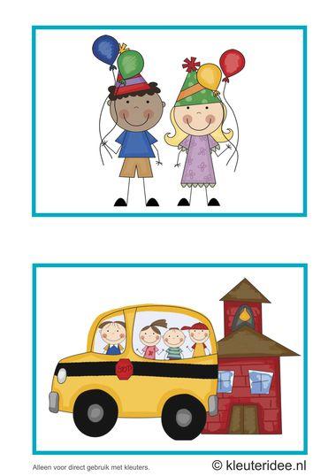 Dagritmekaarten voor kleuters 14, kleuteridee.nl , feest en naar de kerk , daily schedule cards for preschool 14, free printable.