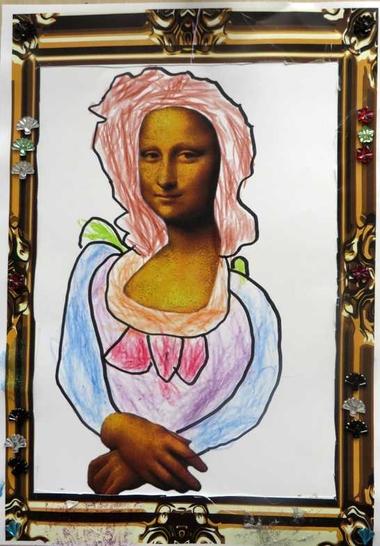 Mona Lisa, thema kunst voor kleuters, kleuteridee.nl , Art theme preschool 4.