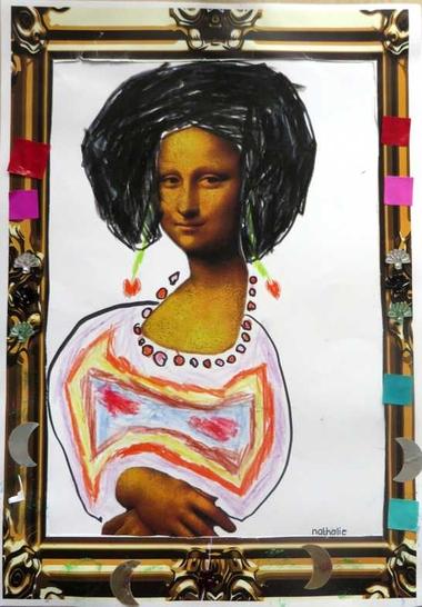 Mona Lisa, thema kunst voor kleuters, kleuteridee.nl , Art theme preschool.1.