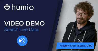 Join Humio CTO Kresten Krab Thorup for a video demo of Humio