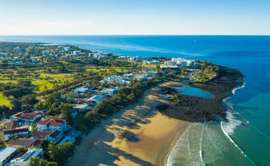 Aerial of Bargara Beach, Bundaberg