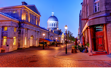 A street in Old Montreal, Quebec, Canada