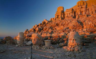 Mount Nemrut at sunrise