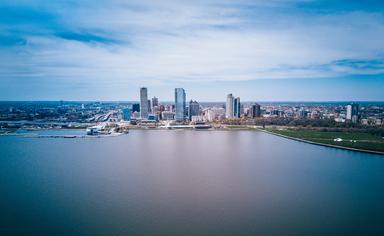 Milwaukee skyline, Wisconsin, USA